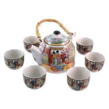 Chinese Tea Set - White Ceramic - Palace Ladies Pattern - Gift Box