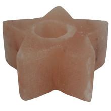 Himalayan Natural Salt Star Shape Candle / Tea Light Holder - 1kg Approx