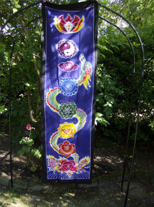 Chakra Drop Banner - Batik Wall Hanging -  Large - Dragon Pattern