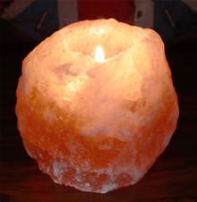 Himalayan Natural Salt Candle / Tea Light Holder - 700g Approx