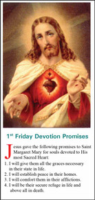 1st Friday Sacred Heart Devotion - English - Pack of 25 Holy Cards
