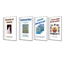 Venta Especial De Los 4 Libros - La Serie Testimonio Espiritual  - Los Libros Son: Providencia Divina, Mi Cristo Roto Camina Sobre Aguas, Rezando el Rosario y El Rostro Visible Del Dios Invisible