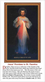 Divine Mercy Promises to St. Faustina - English - pack of 25 cards