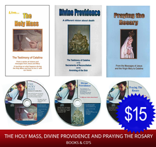 CD & BOOK COMBO - Holy Mass, Divine Providence & Praying the Rosary - English