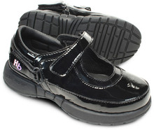 Hatchbacks Ava Girls Shoe : Patent Black