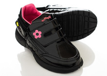 Freestyle Patent Black Girls Shoe