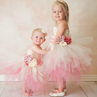 Coral & Ivory Flower Girl Tutu Dress DIY