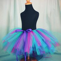 Peacock Easy Ribbon Tie Tutu Tutorial