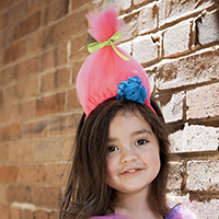 Cotton Candy Troll Hair Headband DIY