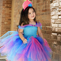 Cotton Candy Troll Tutu Dress