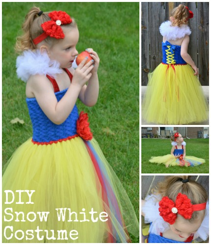 diy snow white tutu dress