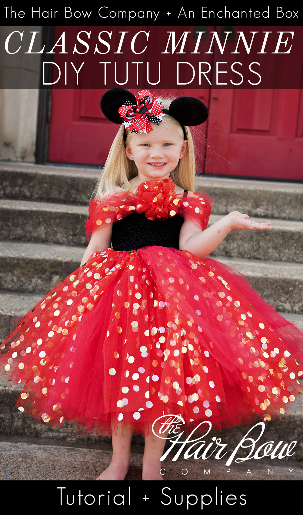 Classic minnie mouse tutu dress diy tutorial the hair bow company solutioingenieria Images