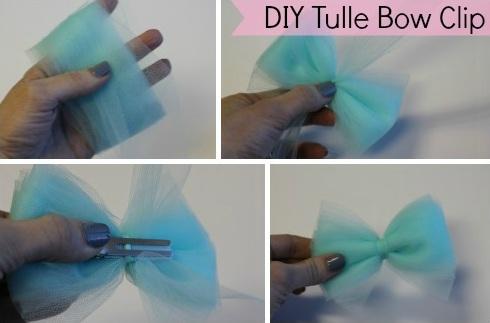Tulle Flower Hair Bow