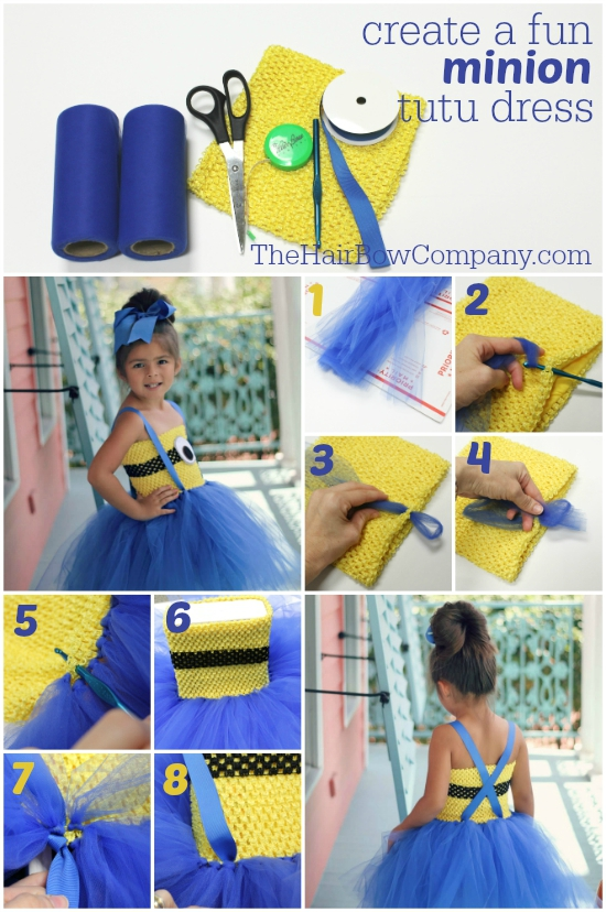 diy minion tutu dress