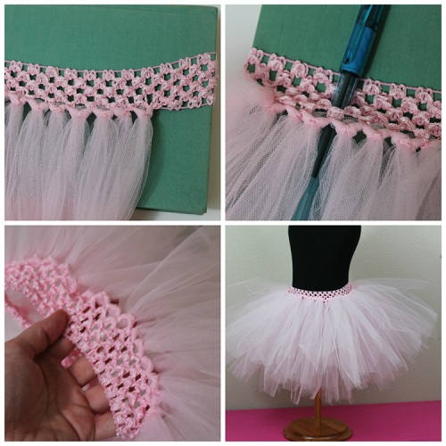 How to make a Tutu Skirt. Let's get started on your very own DIY tutu! The first thing you need to begin making a tutu is measure the waist the tutu will be going on. No matter whether this is for a baby or an adult, the process is the same. Once you have a waist measurement line, subtract inches from the measurement and cut your elastic band.