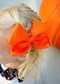 Orange Classic Oversized Grosgrain Hair Bow