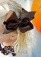 Chocolate Brown Classic Oversized Grosgrain Hair Bow