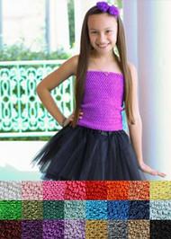 "10"" Lined Crochet Tutu Tops"