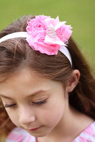 Bling Crown Shabby Headband