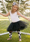 Black tutu for girls age 2-8 years.