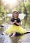 Yellow tutu for girls 2-8 years.