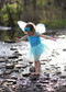 Turquoise tutu for girls 2-8 years.