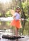 Orange tutu for girls 2-8 years.