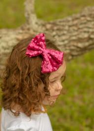 Fancy Sequin Hair Bow