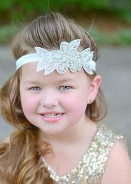 Rhinestone & Pearl Flower Headband