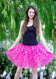 Gold Polka Dot Adult Tutu