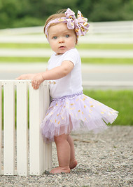 Gold Polka Dot Baby Tutu in Lavender