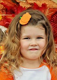 Halloween Felt Pumpkin Hair Clip