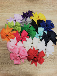 Solid Color Pinwheel Hair Bow for Girls