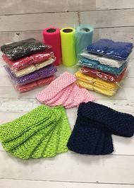 "2.75"" Crochet Headbands - Single Color - Pack of 6"