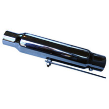 Traditional Shorty Silencer / Muffler, Universal, 12 inch, Short, BSA, Norton, Triumph Motorcycles, Emgo 80-03310