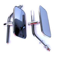 Mirror Set, Chrome, Rectangle, BSA, Norton, Triumph, Emgo 20-34810
