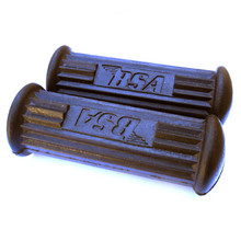 Foot Rest Rubber Set, with Logo, BSA A10, A50, A65, B25, B40, B44, C15 Motorcycles, 82-9602