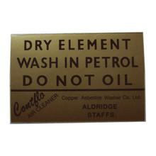 Sticker/Decal, Dry Element, BSA, Norton, Triumph Motorcycles, 24-162
