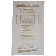 Decal Sheet, Thunderbird, Complete, Triumph Thunderbird Motorcycles, 155A