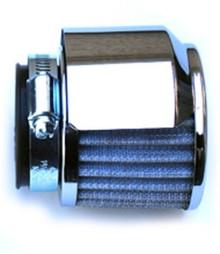 Air Filter, Chrome Shield, 45mm, BSA, Norton, Triumph Motorcycles, Emgo 12-55742