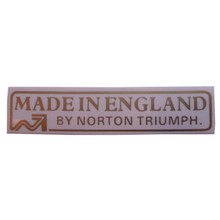 Sticker/Decal, Made in England by Norton Triumph, Norton and Triumph Motorcycles60-4556