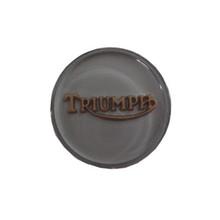 Tank Top Badge, Clear/Gold, Triumph Logo, 83-4776G