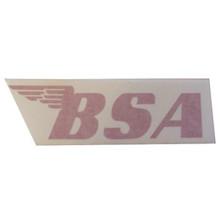 BSA Sticker, Red, BSA Motorcycles, 24-BSAR