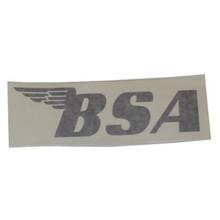 BSA Sticker, Black, BSA Motorcycles, 24-BSAB