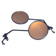 "Enduro Mirror Set, 4"" Diameter, Black ABS, BSA, Norton, Triumph, Emgo 20-64503"