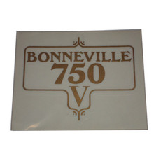 Decal, Bonneville 750 V Transfer, Triumph Motorcycles, 60-3953