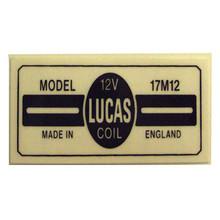 17M12 Lucas Coil Sticker, BSA, Norton, Triumph Motorcycles, 45276/STICKER