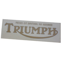 Triumph Decal Sticker, Gold Color, Triumph T100 Motorcycles, 60-0068