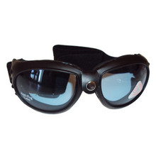 """Bandito"" Universal Riding Goggles, PVC, Blue Tint, UV Protection, Anti-Fog Lens, BSA, Norton, Triumph Motorcycles, Emgo 76-50151"