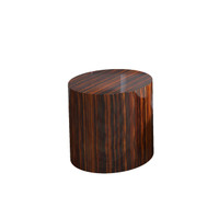 DRUM Side Table Ebony Gloss